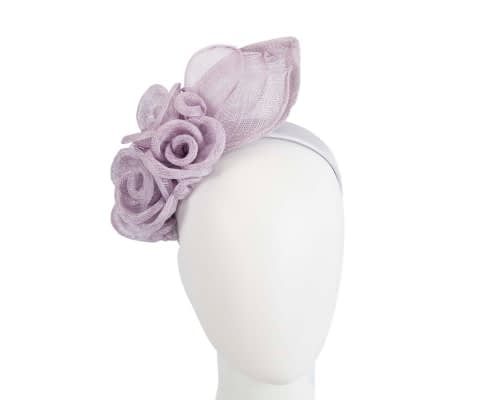 Lilac sinamay flower headband fascinator by Max Alexander Fascinators.com.au