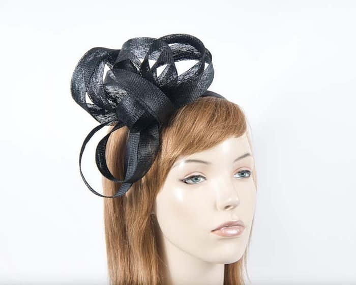 Black sinamay loops by Max Alexander Fascinators.com.au