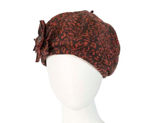 Black rust beret J253BR Fascinators.com.au