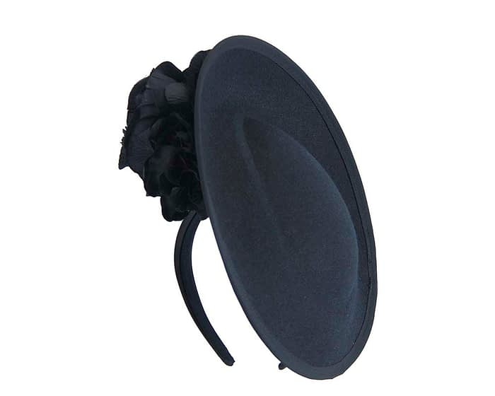 Large navy fascinators with flowers by Fillies Collection Fascinators.com.au