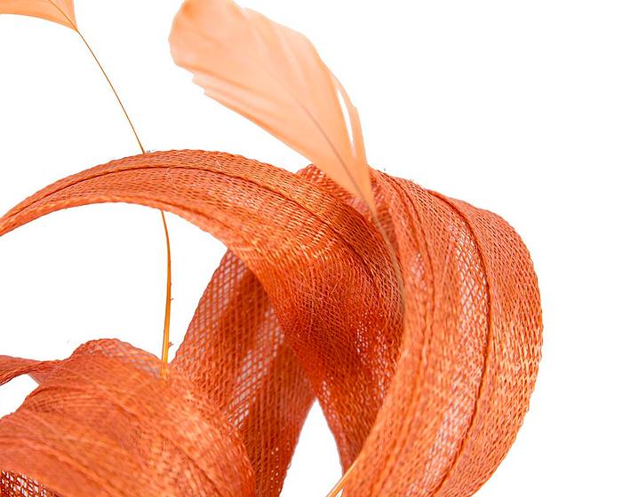 Orange sinamay loops racing fascinator by Max Alexander Fascinators.com.au