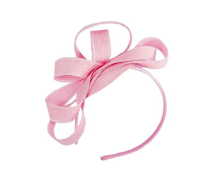 Pink loops racing fascinator Fascinators.com.au