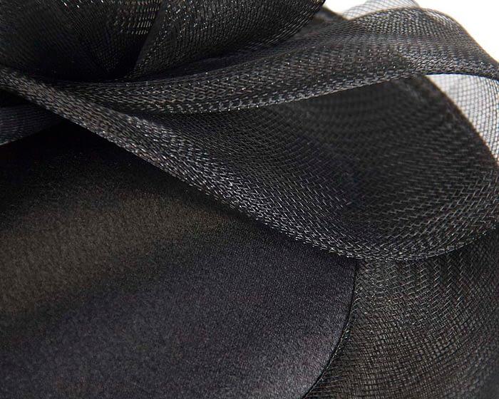 Black custom made cocktail hats Fascinators.com.au