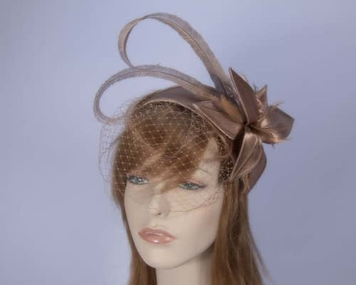 Mocca fascinator K4799VM Fascinators.com.au