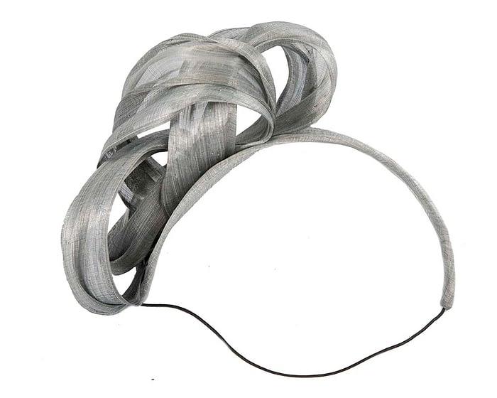 Silver retro headband racing fascinator by Fillies Collection Fascinators.com.au