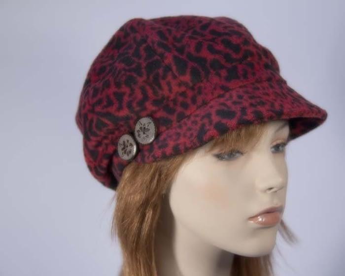 Red casual beret J283R Fascinators.com.au