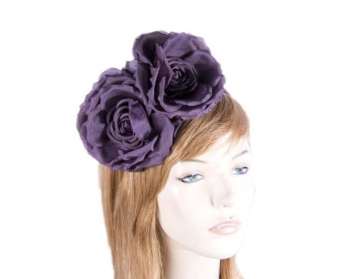Purple wine flowers headband Fascinators.com.au
