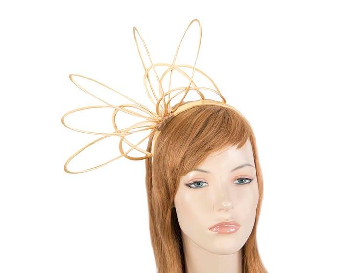 Gold loops on headband fascinator Fascinators.com.au