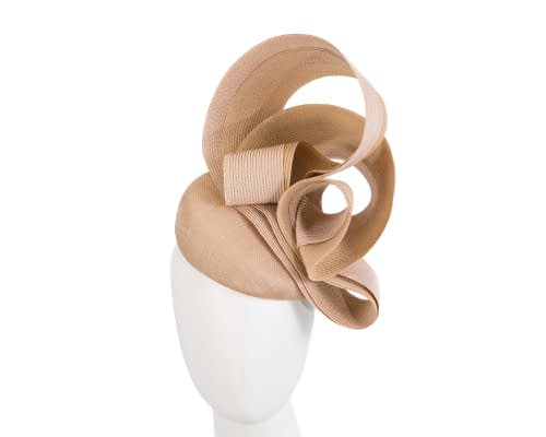 Designers nude pillbox racing fascinator by Fillies Collection Fascinators.com.au