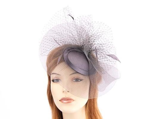 Charcoal mother of the bride hat Fascinators.com.au