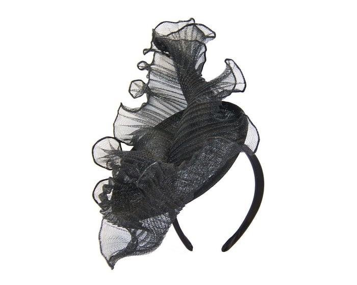 Black wavy fascinator by Max Alexander Fascinators.com.au