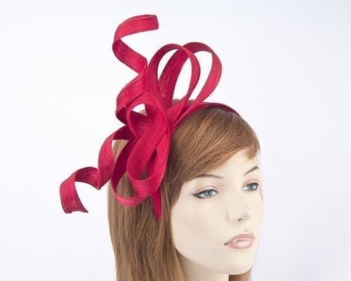 Australian made red Fillies Collection racing fascinator for Melbourne Cup S169R Fascinators.com.au