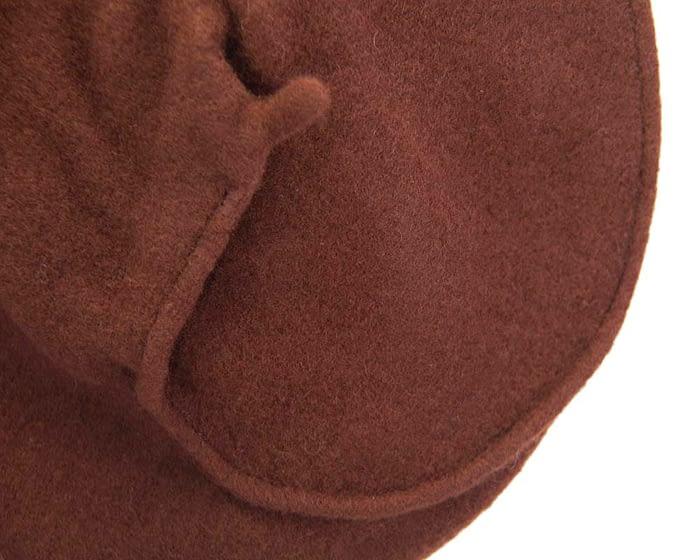 Warm chocolate woolen European Made french beret Fascinators.com.au