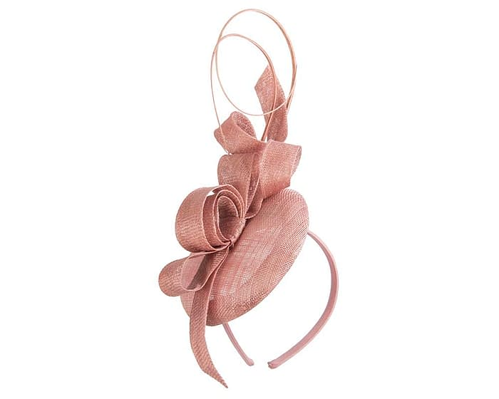 Tall dusty pink racing fascinator by Max Alexander Fascinators.com.au