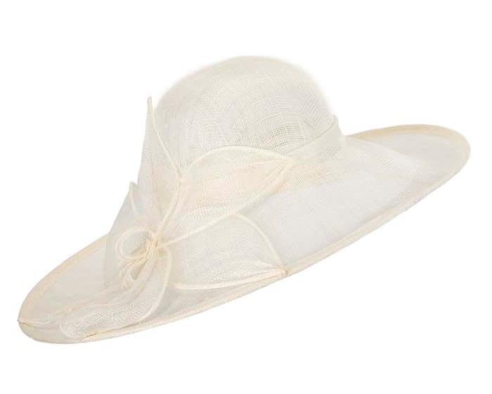 Large cream sinamay hat by Max Alexander Fascinators.com.au