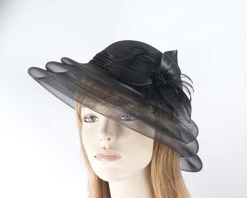 Black fashion hat H5002B Fascinators.com.au