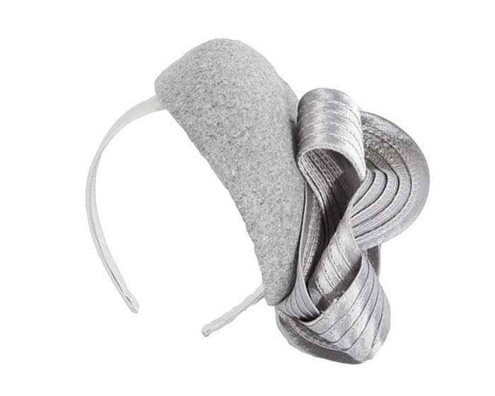 Silver grey racing fascinator by Fillies Collection Fascinators.com.au