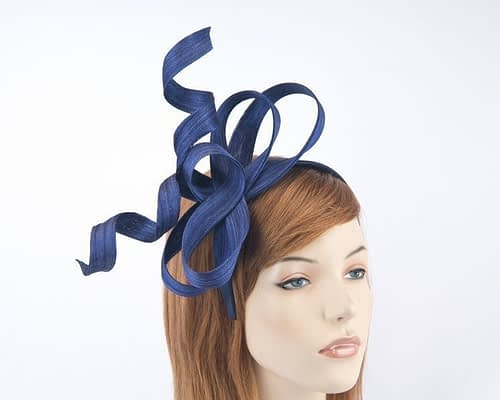 Australian made royal blue Fillies Collection racing fascinator for Melbourne Cup S169RB Fascinators.com.au