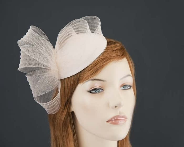 Nude fascinator pillbox for special occasion K5013NU Fascinators.com.au