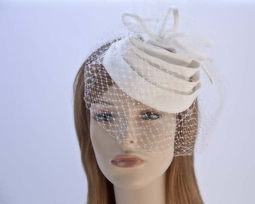 Cream cocktail hats K4801C Fascinators.com.au