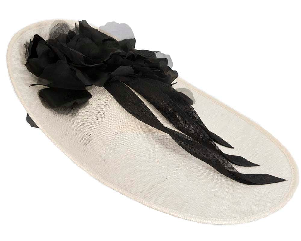 Large Cream & Black Racing Hatinator By Fillies Collection
