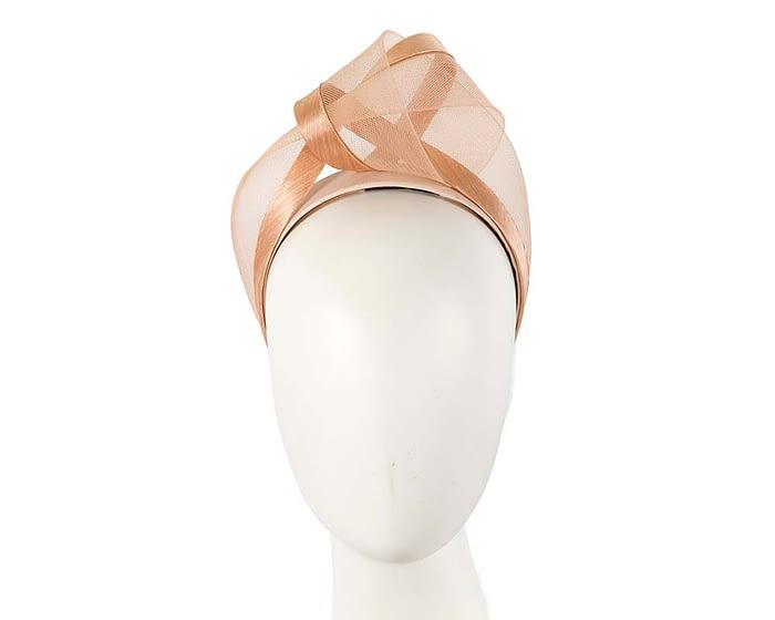 Nude turban headband by Fillies Collection Fascinators.com.au