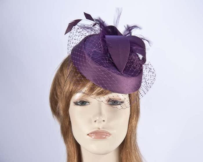 Cabernet pillbox hat K4811CA Fascinators.com.au