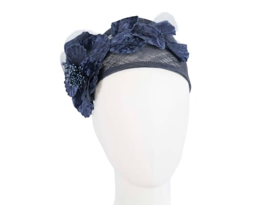 Navy flower headband racing fascinator Fascinators.com.au