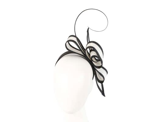 White and Black bow racing fascinator by Max Alexander Fascinators.com.au