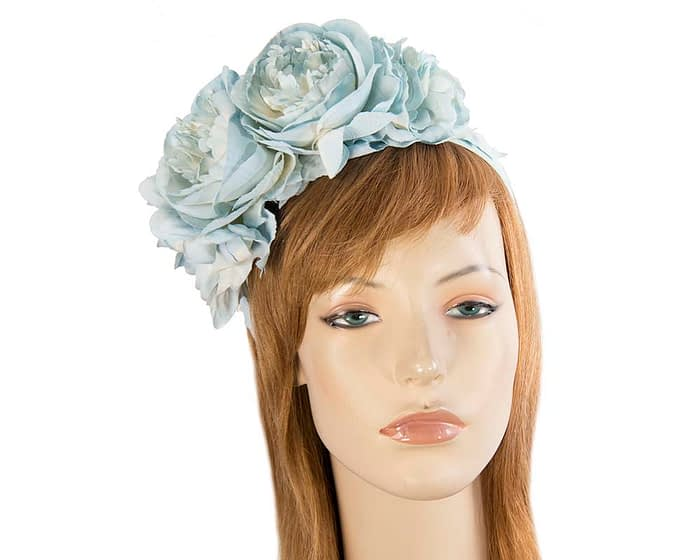 Light blue flower headband by Max Alexander Fascinators.com.au