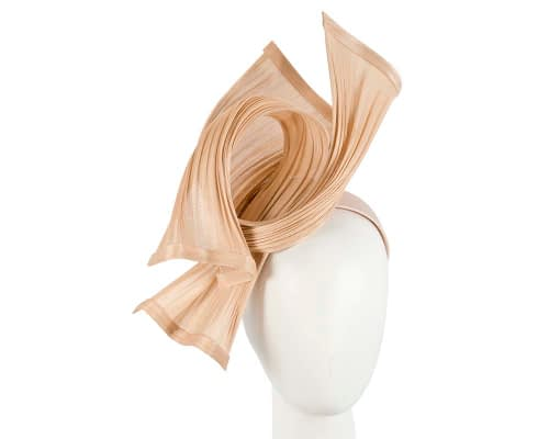 Bespoke nude jinsin waves racing fascinator by Fillies Collection Fascinators.com.au