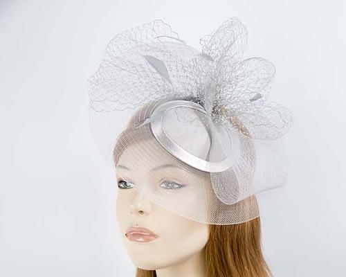 Silver mother of the bride hat Fascinators.com.au