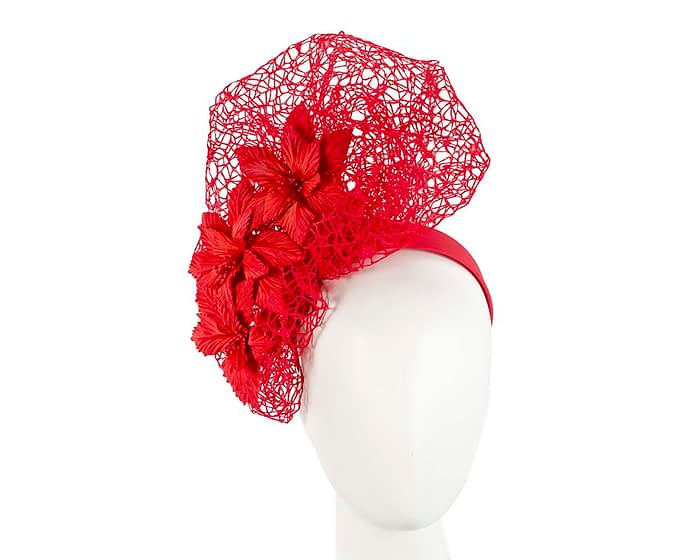 Red designers racing fascinator by Fillies Collection Fascinators.com.au