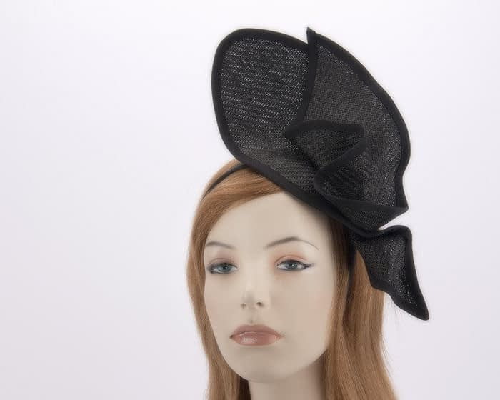 Unusual black racing fascinator MA662B Fascinators.com.au