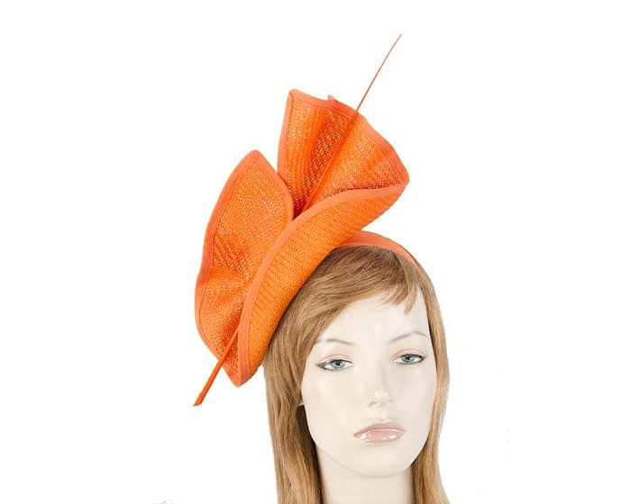 Bright orange Australian Made racing fascinator by Max Alexander MA686O Fascinators.com.au