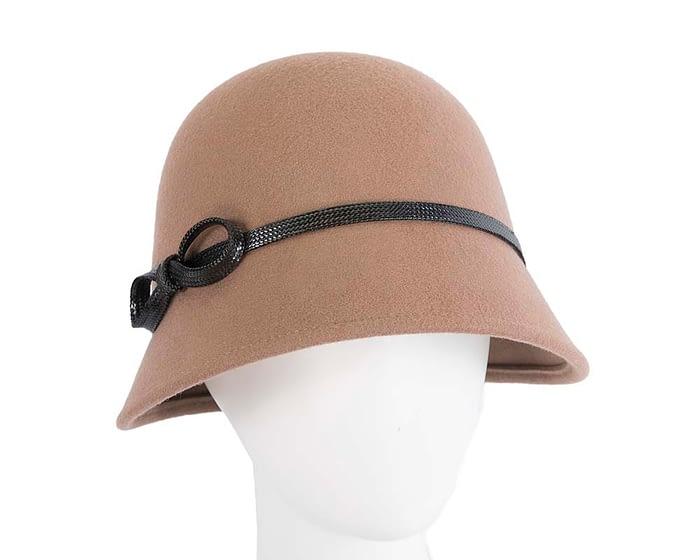 Beige felt bucket hat by Max Alexander Fascinators.com.au