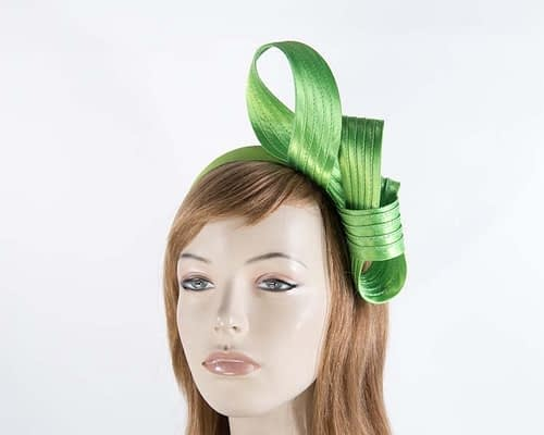 Twisted lime fascinator Fascinators.com.au