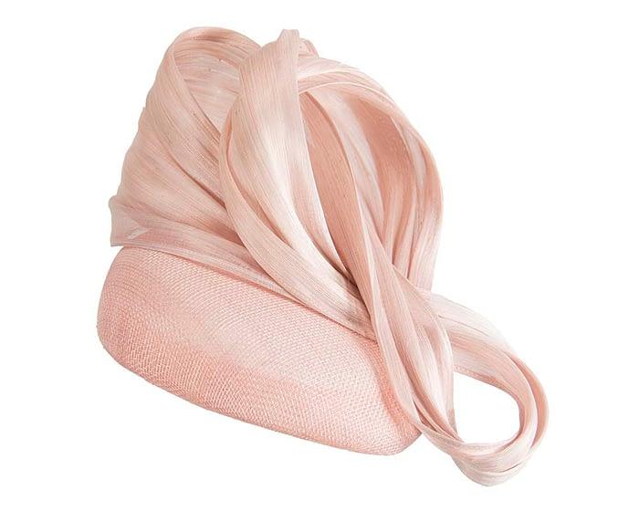 Pink pillbox silk abaca bow Fascinators.com.au