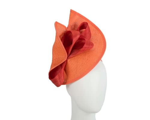 Orange designers racing fascinator with bow by Fillies Collection Fascinators.com.au