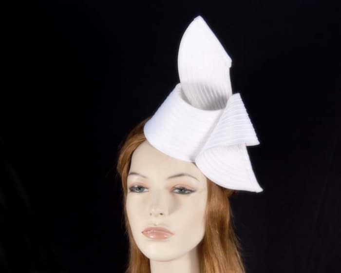 White fascinator MA614W Fascinators.com.au