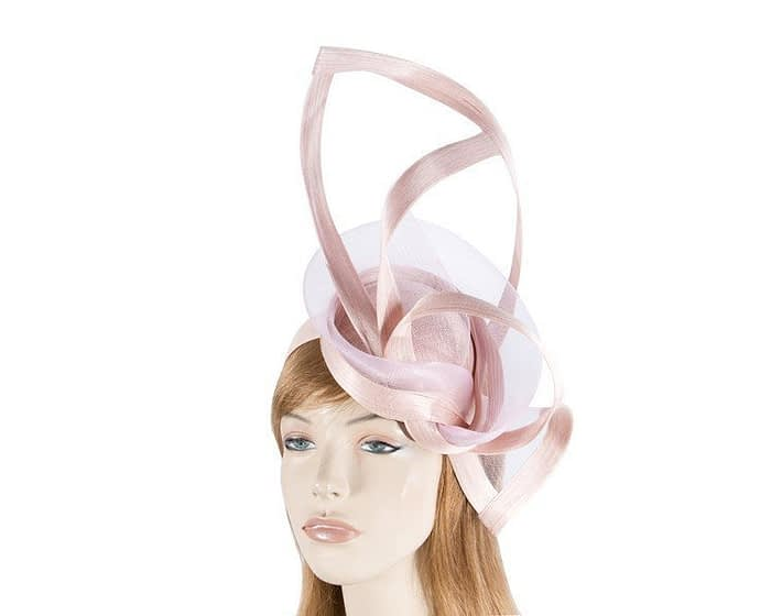 Pink twisted racing fascinator Fascinators.com.au