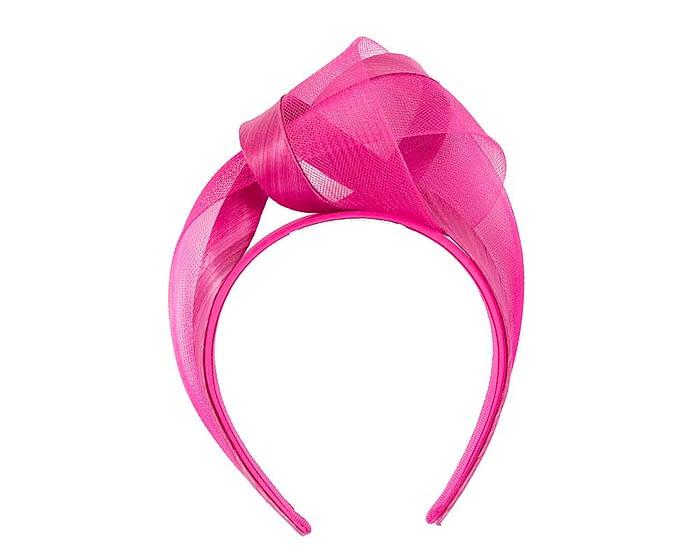 Fuchsia turban headband by Fillies Collection Fascinators.com.au