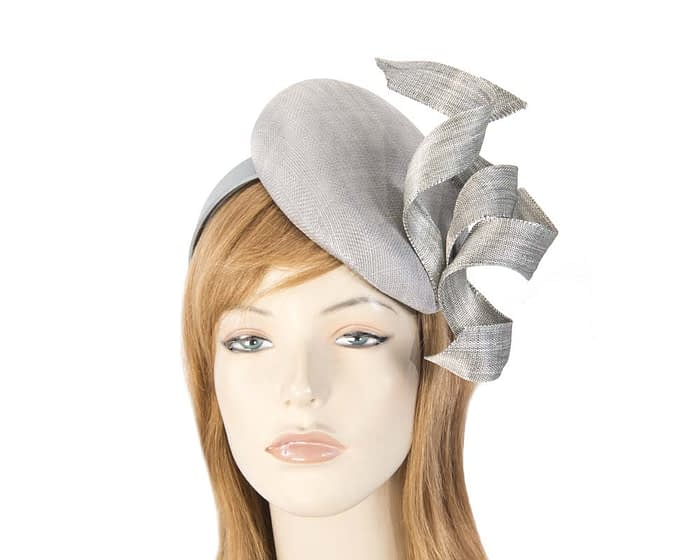 Amazing silver pillbox fascinator Fascinators.com.au
