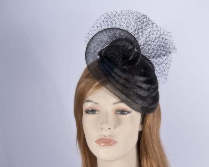 Black cocktail hats K4797B Fascinators.com.au