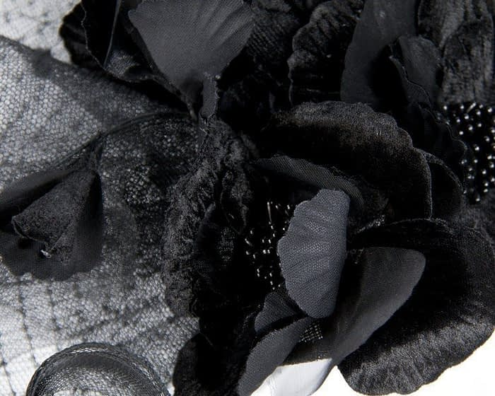 Bespoke tall black fascinator Fascinators.com.au