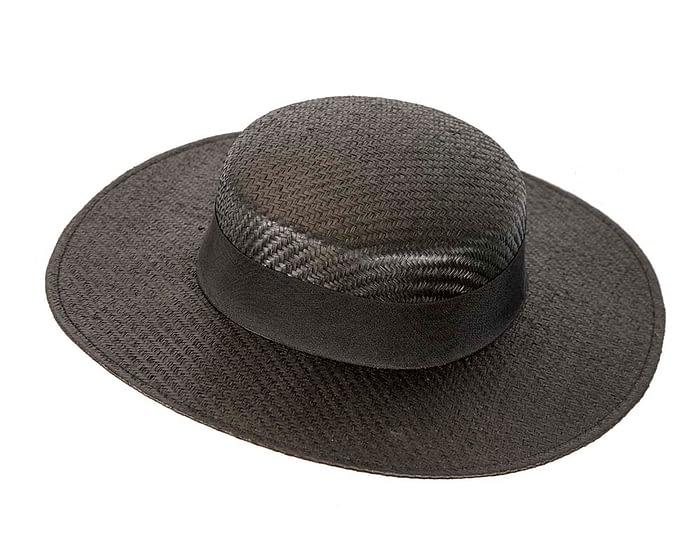 Black boater hat by Max Alexander Fascinators.com.au