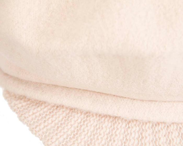Warm cream woolen European Made cap Fascinators.com.au