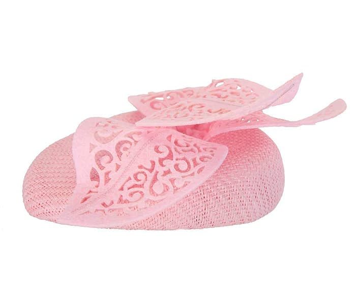 Pink pillbox laser cut trim Fascinators.com.au