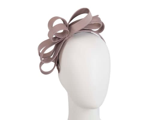 Taupe bow racing fascinator Fascinators.com.au