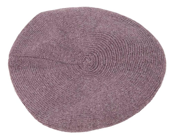 Classic warm eggplant wool beaked cap. Made in Europe Fascinators.com.au